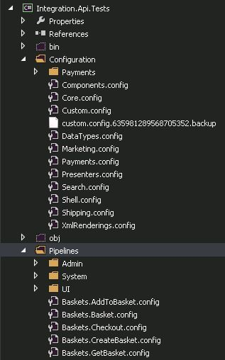Image of configuration and pipelines folders in project