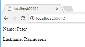 Page with my name running on Asp.net mvc Core